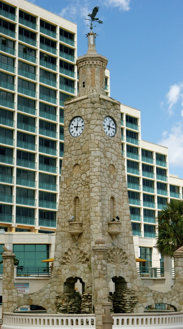 Coquina Clock Tower Daytona Beach Hilton